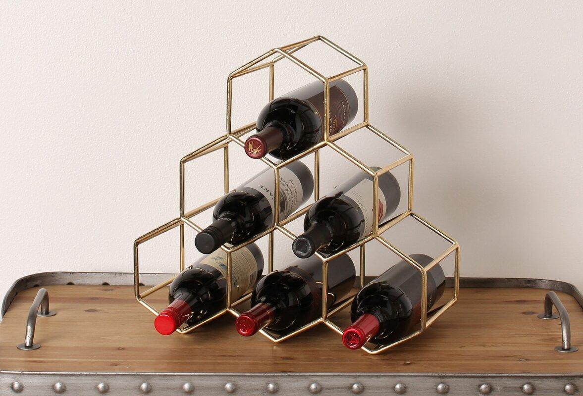 kate and laurel merl  bottle tabletop wine bottle rack  reviews  - defaultname