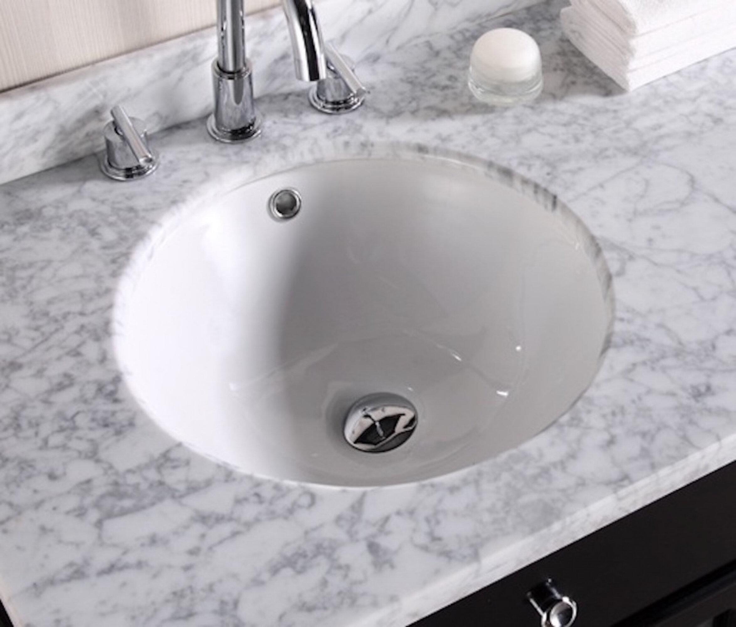 Royalpurplebathkitchen Ceramic Circular Undermount Batroom Sink With Overflow Wayfair