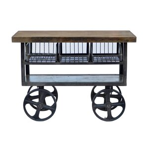 Industrial Kitchen Island with Mango Top by CDI International