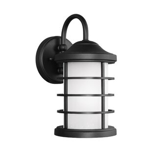 Compare Newcastle 1-Light Outdoor Barn Light By Breakwater Bay