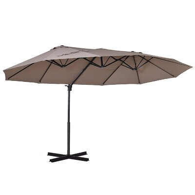 Abarca 15 X 8.9 Rectangular Cantilever Umbrella by Freeport Park Comparison