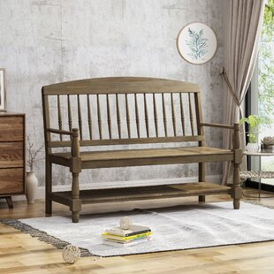 Affordable Price Julianna Indoor Farmhouse Acacia Wood Storage Bench By Alcott Hill