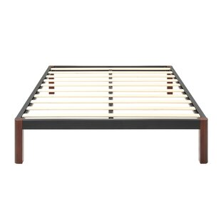 Caoimhe Wood Slat and Metal Platform Bed Frame