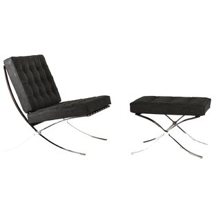 Martin Lounge Chair and Ottoman By Orren Ellis