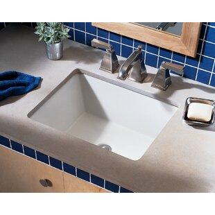 Affordable Price Boulevard Ceramic Rectangular Undermount Bathroom Sink with Overflow ByAmerican Standard