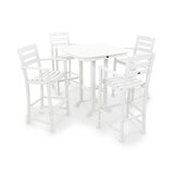 La Casa Café 5 Piece Bar Height Dining Set