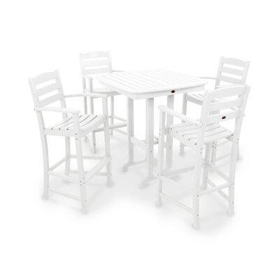 La Casa Café 5 Piece Bar Height Dining Set by POLYWOOD® Coupon