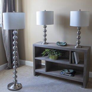 Hexham 3 Piece Table and Floor Lamp Set
