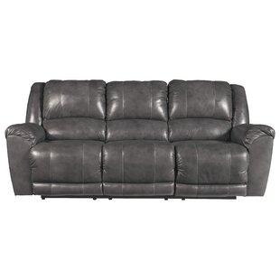 Waterloo Leather Reclining Sofa by Darby Home Co