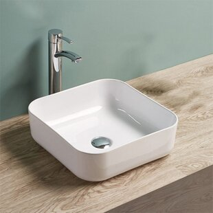 Bargain Ceramic Square Vessel Bathroom Sink By Vanitesse