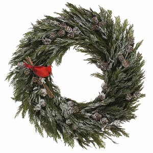 Snowy Pinecone/Cedar Wreath