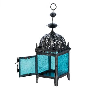 Zingz & Thingz Medallion Iron and Glass Lantern