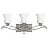 Ingersoll 3 - Light Dimmable Silver Vanity Light