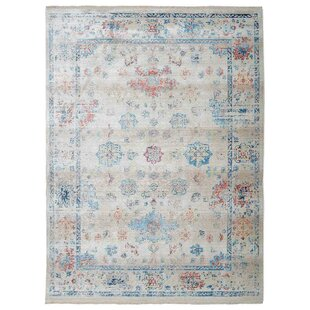 Affordable Mcmullan Oriental Aqua/white/Red Area Rug By Bungalow Rose