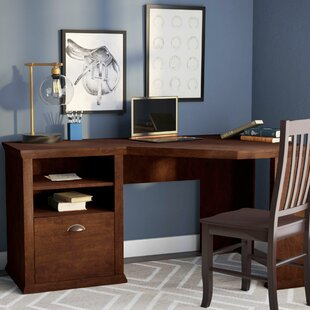 Tenbury Wood Corner Writing Desk with Hutch by Three Posts