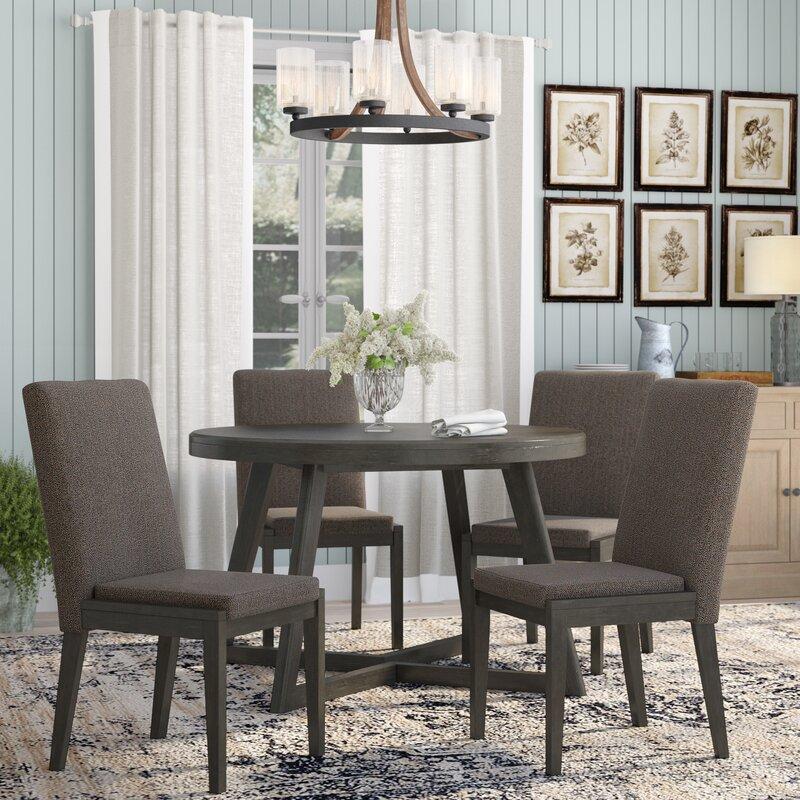 Laurel Foundry Modern Farmhouse Bayle 5 Piece Solid Wood Dining Set Reviews Wayfair