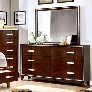 Modoc 6 Drawer Double Dresser With Mirror by Brayden Studio Bargain