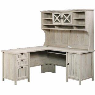 L-Shape Computer Desk with Hutch by Laurel Foundry Modern Farmhouse
