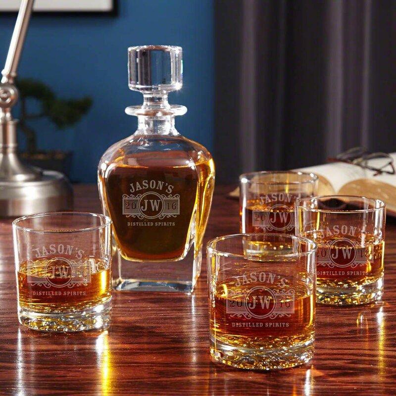 Darby Home Co Lenum 5 Piece Whiskey Decanter Set Wayfair
