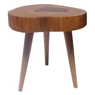 Union Rustic Perla Teak Accent Stool