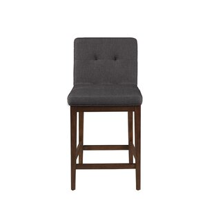 Graford Upholstered Counter Stools Gray a..