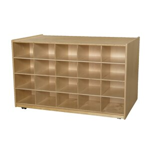 Buy clear Island 20 Compartment Cubby with Casters ByWood Designs