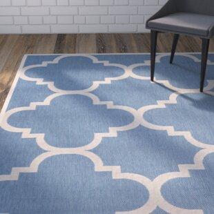 Herefordshire Lattice Blue Indoor/Outdoor Area Rug