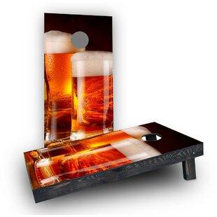 Custom Cornhole Boards Double Beer Mug Cornhole Boards (Set of 2)