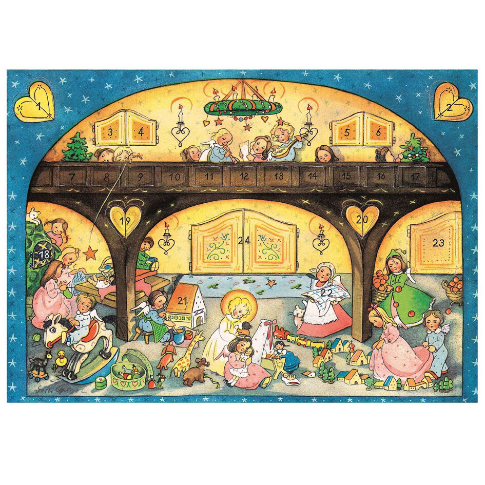 The Holiday Aisle Raci Angels And Children Advent Calendar Wayfair