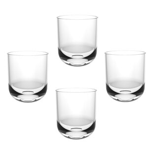 Charlsie Unbreakable Shatter Resistant 15 Oz. Plastic Every Day Glasses  (Set Of 4)