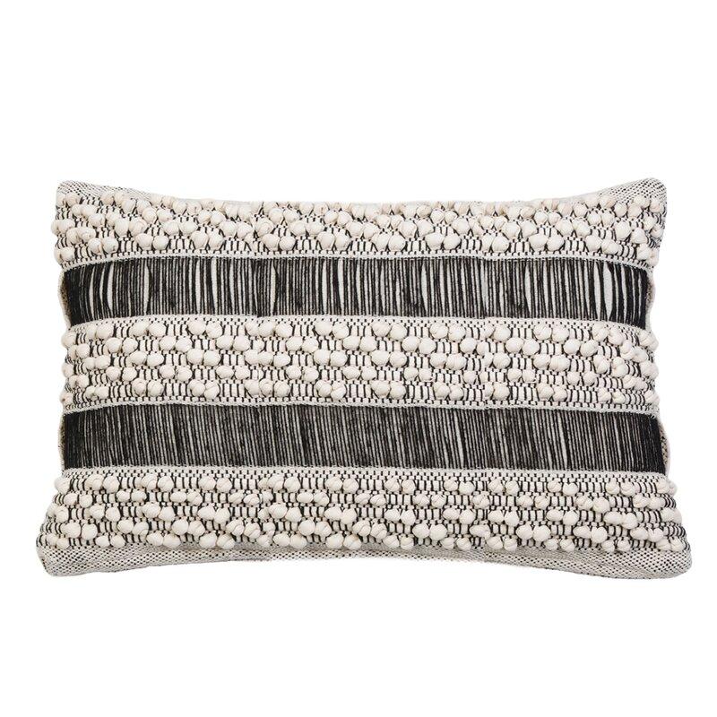 Pom Pom At Home Serena Cotton Feathers Striped Lumbar Pillow Wayfair
