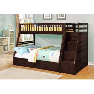 Harriet Bee Walton Twin Over Full Bunk Bed with Drawers