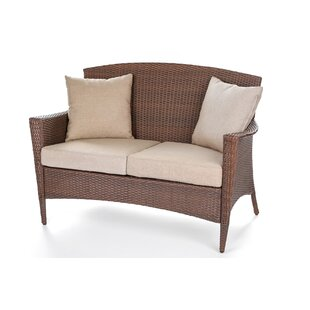 Ophelia & Co. Kilgo Patio Loveseat with Cushions