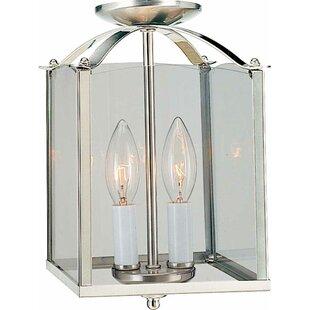 Volume Lighting 2-Light Rectangle Pendant