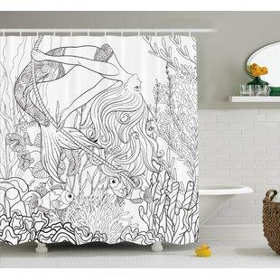 Mackenzie Surreal Little Mermaid Shower Curtain