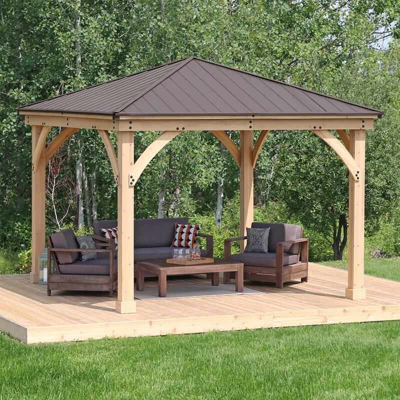 Yardistry Meridian 12 Ft. W X 12 Ft. D Solid Wood Patio