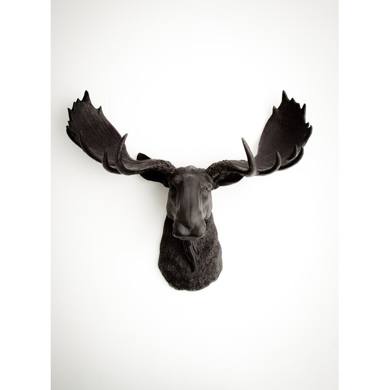 The Edmonton Faux Moose Head Wall Décor