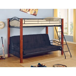 Agosto and Wood Casual Twin over Twin Futon Bunk Bed
