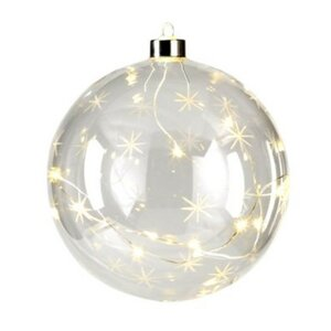 Clear Star Ball ornament (Set of 4)