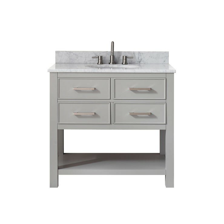 "Bathroom Vanity Base mercury row cortland 36"" double bathroom vanity base & reviews"