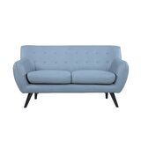 62 Wide Faux Leather Round Arm Loveseat by Madison Home USA