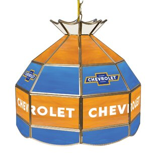 Trademark Global Chevy Racing Stained Glass 1-Light Pool Table Lights Pendant