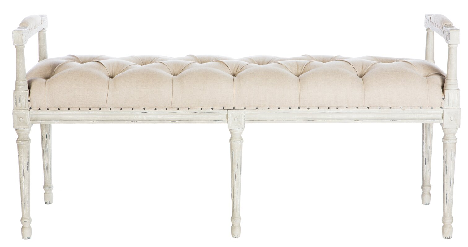 Andrew Wood Bench #aidangray #tufted #french #bench