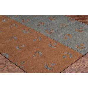 handtufted greyorange area rug