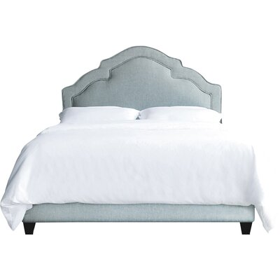 Sheila Upholstery Standard Bed My Chic Nest Body Fabric: Caitlin Natural, Leg Color: Antique White, Size: Full