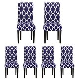Printed Spandex Protector Box Cushion Dining Chair Slipcover (Set of 6) by Red Barrel Studio®
