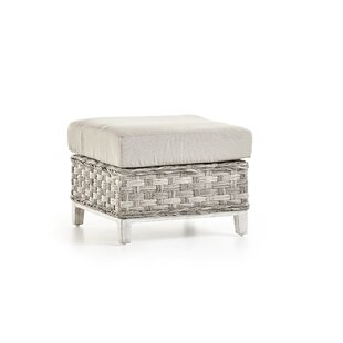South Sea Rattan Cape Lookout Ottoman With Cushion