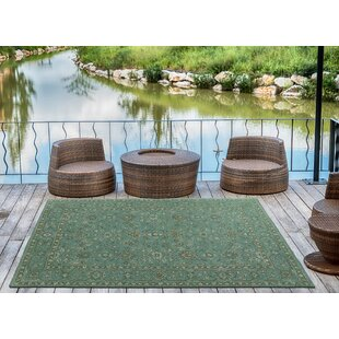 Dittmar Handmade Turquoise Indoor/Outdoor Area Rug