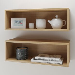 Rectangle 2 Piece Wall Accent Shelf Set