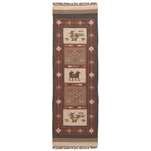 Affordable Hacienda Flatweave Wool Off-White/Red Area Rug By St. Croix